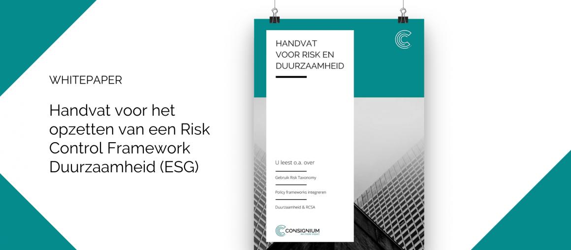 Handvat Risk Control Framework Duurzaamheid (ESG)