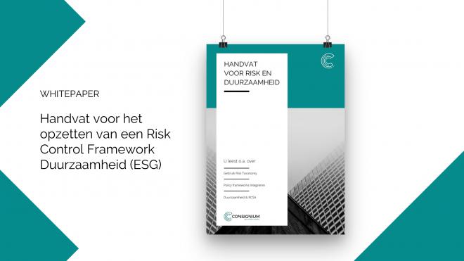 Handvat voor het opzetten van een Risk Control Framework Duurzaamheid (ESG)